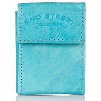 Błękitny mini skórzany portfel bag street