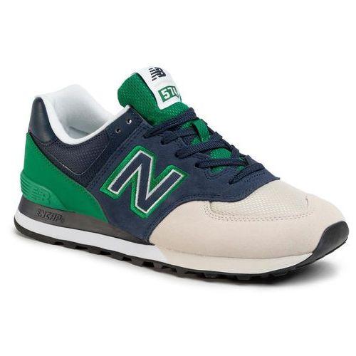 Sneakersy - ml574upz granatowy kolorowy marki New balance
