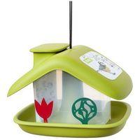karmnik dla ptaków domek, zielony marki Plastia