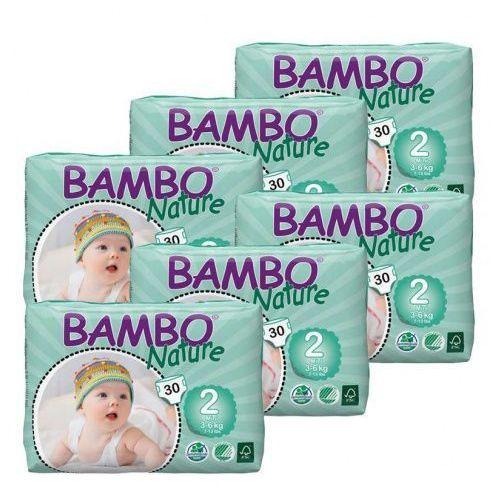 Bambo nature Eko pieluszki jednorazowe mini 3-6 kg, karton (6op. x 30szt), abena