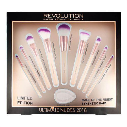 Makeup revolution - ultimate nudes 2018 - brush collection - zestaw 9 pędzli do makijażu (5060495309304)