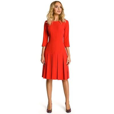 7ed9c13d9c Czerwona sukienka z obniżonym stanem marki Moe MOLLY