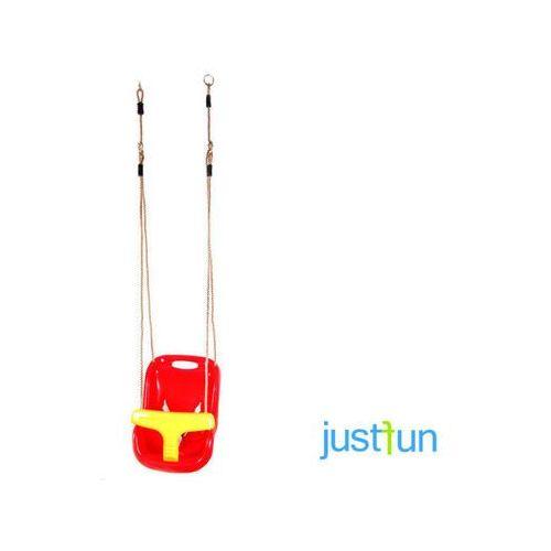 Huśtawka kubełkowa - czerwono-żółty marki Just fun
