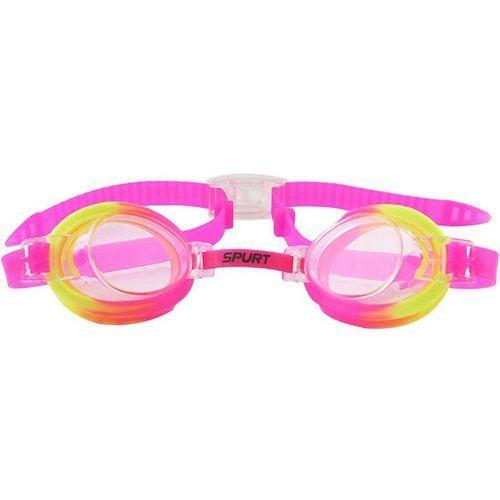 Okularki pływackie SPURT 173 AF Różowo-Żółty