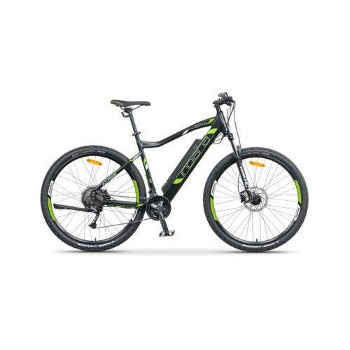 Rower elektryczny e-mtb 2.0 m21 czarno-zielony darmowy transport marki Indiana