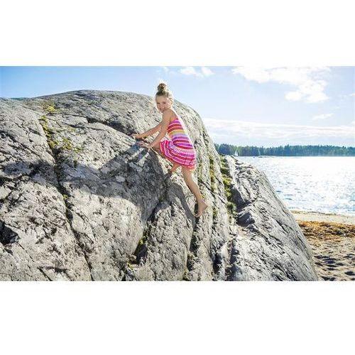 Sukienka UV bez prasowania Reima Cranberry różowy żółta paski (6416134430479)