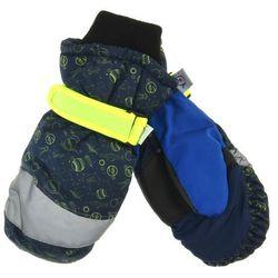 Scorpio Rękawiczki narciarskie dla dzieci - żółty ||granatowy