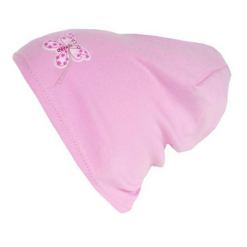 Czapka dziecięca motylek beanie ciamajda 40-42 róż - cd15-1 marki Tara