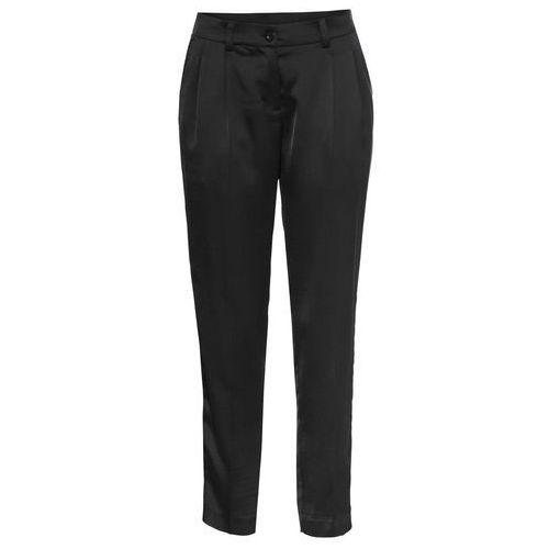 Spodnie dresowe bonprix czarny, poliester