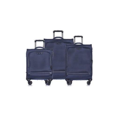 d63067571113c Zobacz w sklepie Puccini Komplet walizek em50420 kolekcja copenhagen zestaw  duża + średnia +