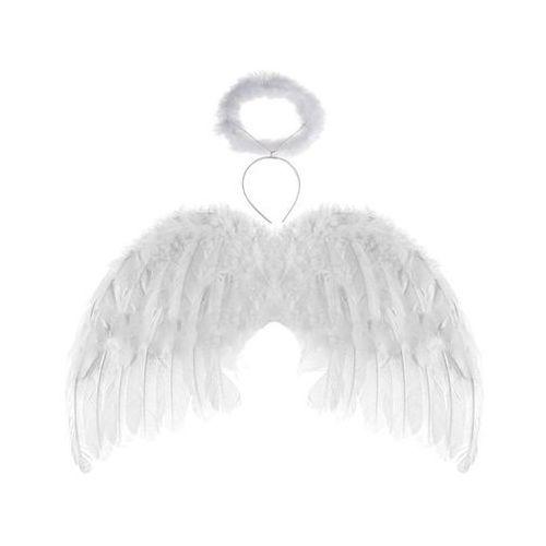 Skrzydła anioła białe z aureolką - 48 x 28 cm marki Tam