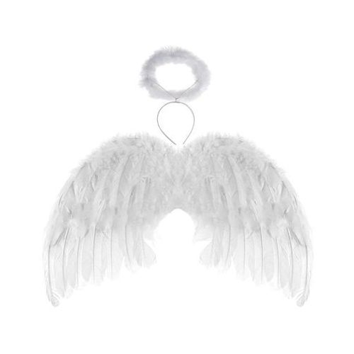 Skrzydła anioła białe z aureolką - 48 x 28 cm marki Tamipol
