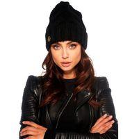 Klasyczna zimowa czapka damska LC112 czarny
