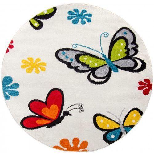 Dywan Dziecięcy Komfort Easy Motyl 150x150 Biały Lck058 150 Roomzonepl