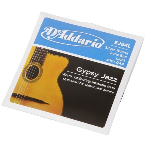 D′Addario EJ-84L struny do gitary akustycznej Gypsy Jazz 10-44 Loop End