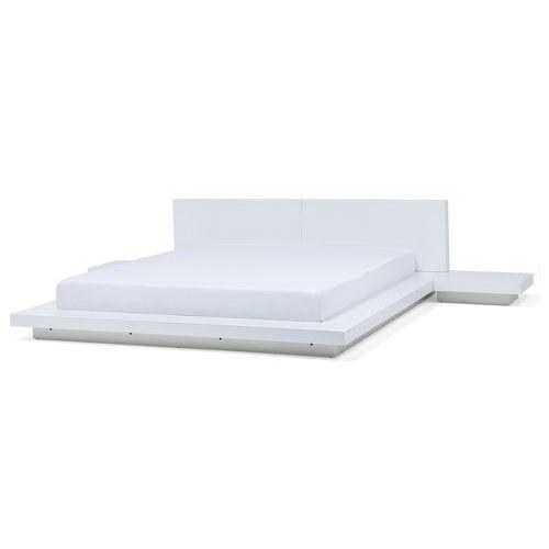 łóżko Białe 180 X 200 Cm Zen Beliani