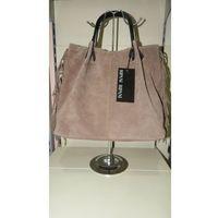 RIPANI torebka skóra naturalna GARDENA NN shopper bag w stylu boho