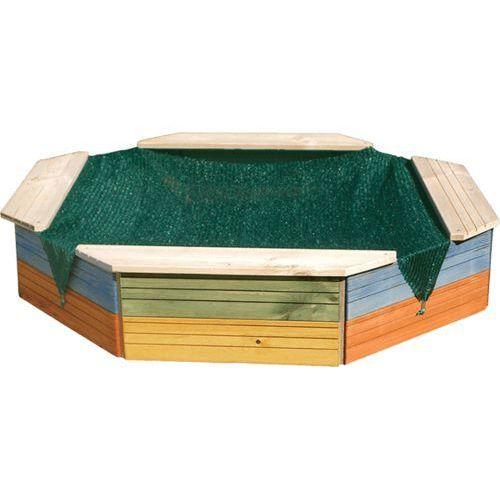Woody piaskownica drewniana - barwiona, z przykryciem (8591864103102)