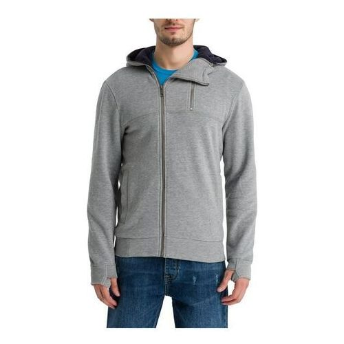 bluza BENCH - Her. Double Zip Hoodie Winter Grey Marl (MA1054) rozmiar: M, kolor szary