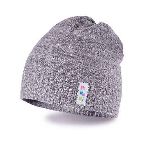 Wiosenna czapka dziewczęca PaMaMi - Jasnoszary - Jasnoszary (5902934023610)
