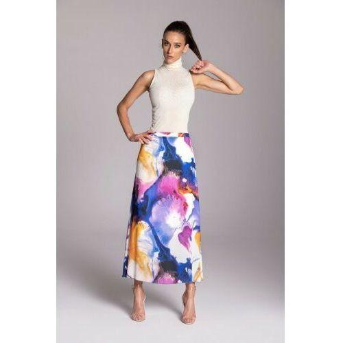 Długa letnia spódnica trapezowa kolorowa KOLEKCJA ROZLANE FARBY