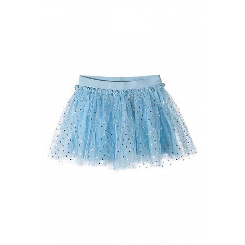 Spódniczka dziewczęca tiulowa niebieska 3Q36AF, kolor niebieski