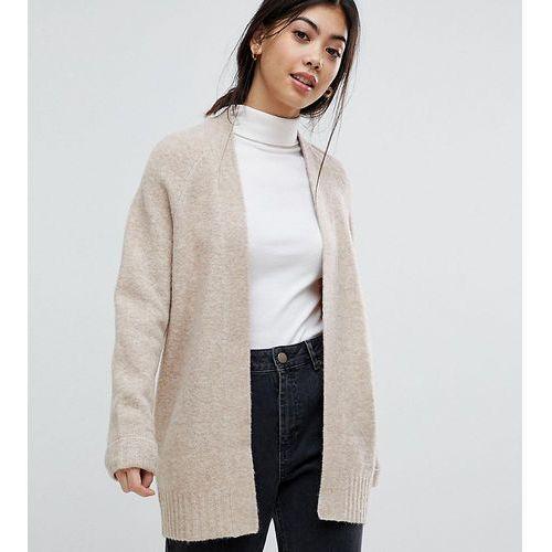 Chunky knit cardigan in wool mix - beige, Asos petite