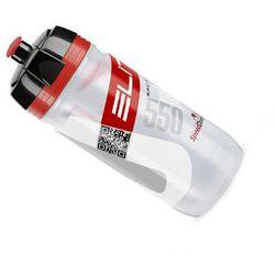 Elite E bidon corsa przezroczysty - czerwone logo 550ml