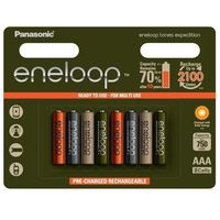 Panasonic 8 x akumulatorki eneloop tones expedition r03/aaa 800mah (blister) (5410853059813)