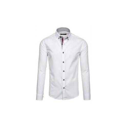Koszula męska elegancka z długim rękawem biała Bolf 6943, kolor biały