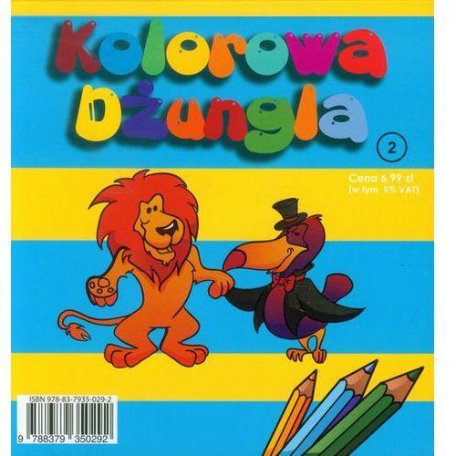Kolorowa dżungla 2 kolorowanka z naklejkami marki Ferment