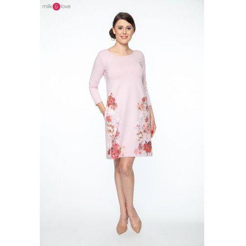 010635f07a Sukienka ciążowa i do karmienia MilkA pudrowy róż w kwiaty ceny ...