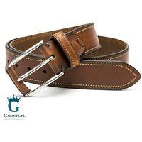 Brązowy pasek skórzany do spodni casual jeans miguel bellido 4970-40-1613-53
