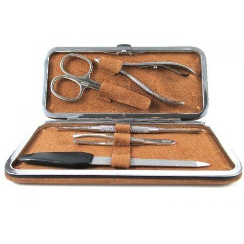 Velour tabacco - 5-częściowy zestaw do manicure, solingen-kiehl marki Solingen - kiehl