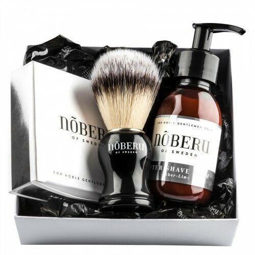 Zestaw upominkowy do golenia Nõberu dla mężczyzn, Amber-Lime - Najlepsza oferta