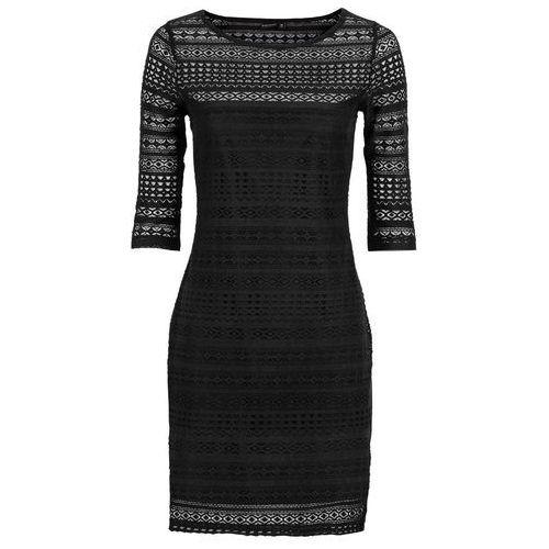 Sukienka z koronki czarny Bonprix