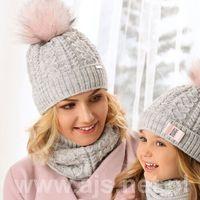 Komplet damski ajs 38-652 czapka+komin rozmiar: 52-56, kolor: wielokolorowy, ajs
