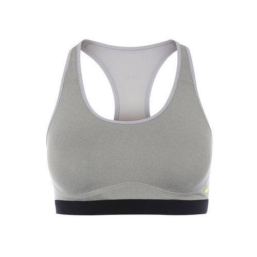 Nike Performance PRO FIERCE Biustonosz sportowy dark grey heather/wolf grey/black