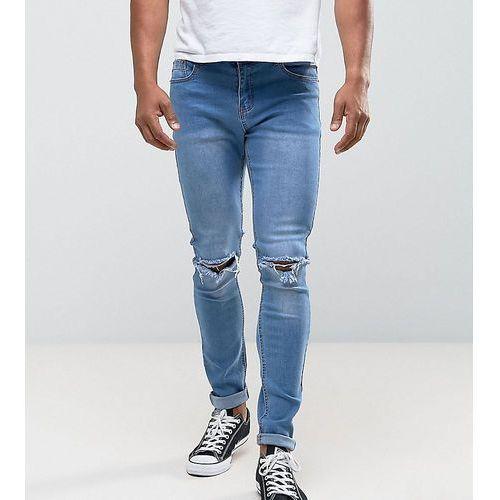 e3750086f813 Zobacz ofertę Skinny rip knee jeans in light stonewash - blue Liquor n poker