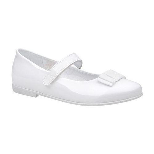 Balerinki buty komunijne KORNECKI 4246 Białe Lakierki - Biały