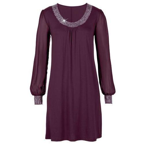 Sukienka wieczorowa bonprix czerwony, kolor fioletowy