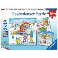 Ravensburger Puzzle 3x49 elementów - śnieżna przygoda