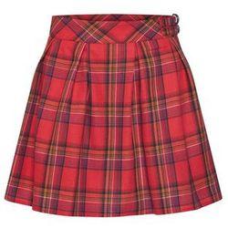 Missguided Spódnica 'CHECK PLEATED BUCKLE DETAIL MINI SKIRT' czerwony / czarny, w 6 rozmiarach