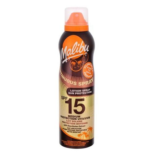 Malibu continuous spray spf15 preparat do opalania ciała 175 ml dla kobiet - Najlepsza oferta