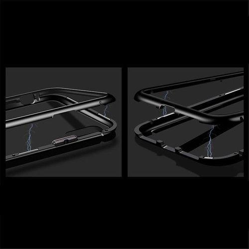 Wozinsky Magnetic Case magnetyczne etui 360 pokrowiec na całą obudowę przód + tył iPhone XR czarny, kolor czarny