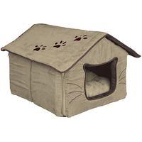 TRIXIE Domek dla kota 35 x 30 x 40 cm beżowo / brązowe- RÓB ZAKUPY I ZBIERAJ PUNKTY PAYBACK - DARMOWA WYSYŁKA OD 99 ZŁ (4047974363348)