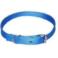 Chaba mocna taśmowa obroża dla psa gładka - obwód szyi 33cm-39cm - 33cm-39cm \ niebieski