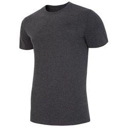 4F KOSZULKA MĘSKA t-shirt H4Z18 TSM001 SZARY roz M, kolor szary