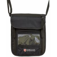 Paszportówka antykradzieżowa na szyję z zabezpieczniem RFID STOP (Czarny)