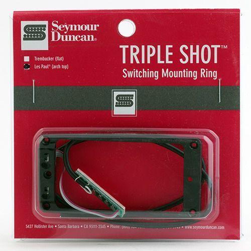 Seymour duncan sts 2b blk triple shot, bridge switching mounting ring, arched - black